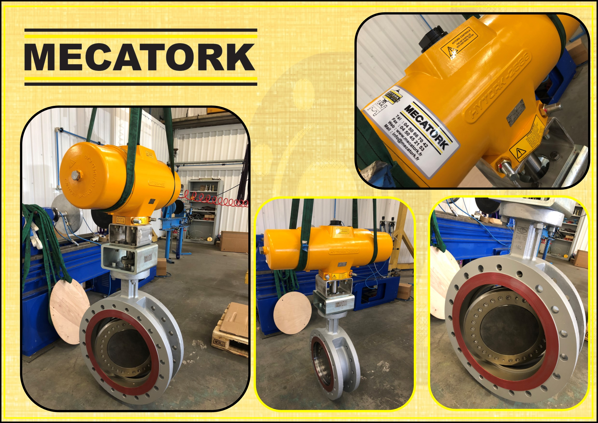DN 350 triple offset butterfly valve with Hytork actuator