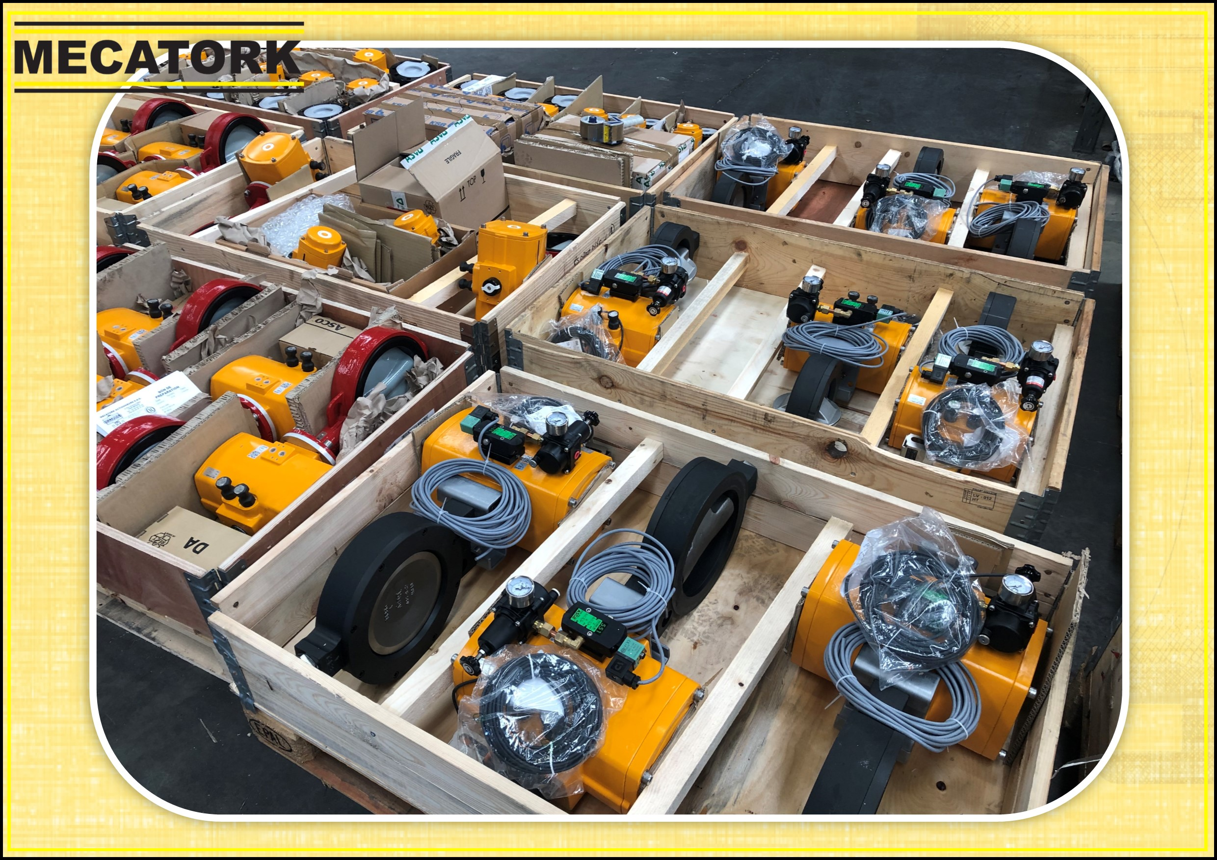 El-O-Matic actuators package valves